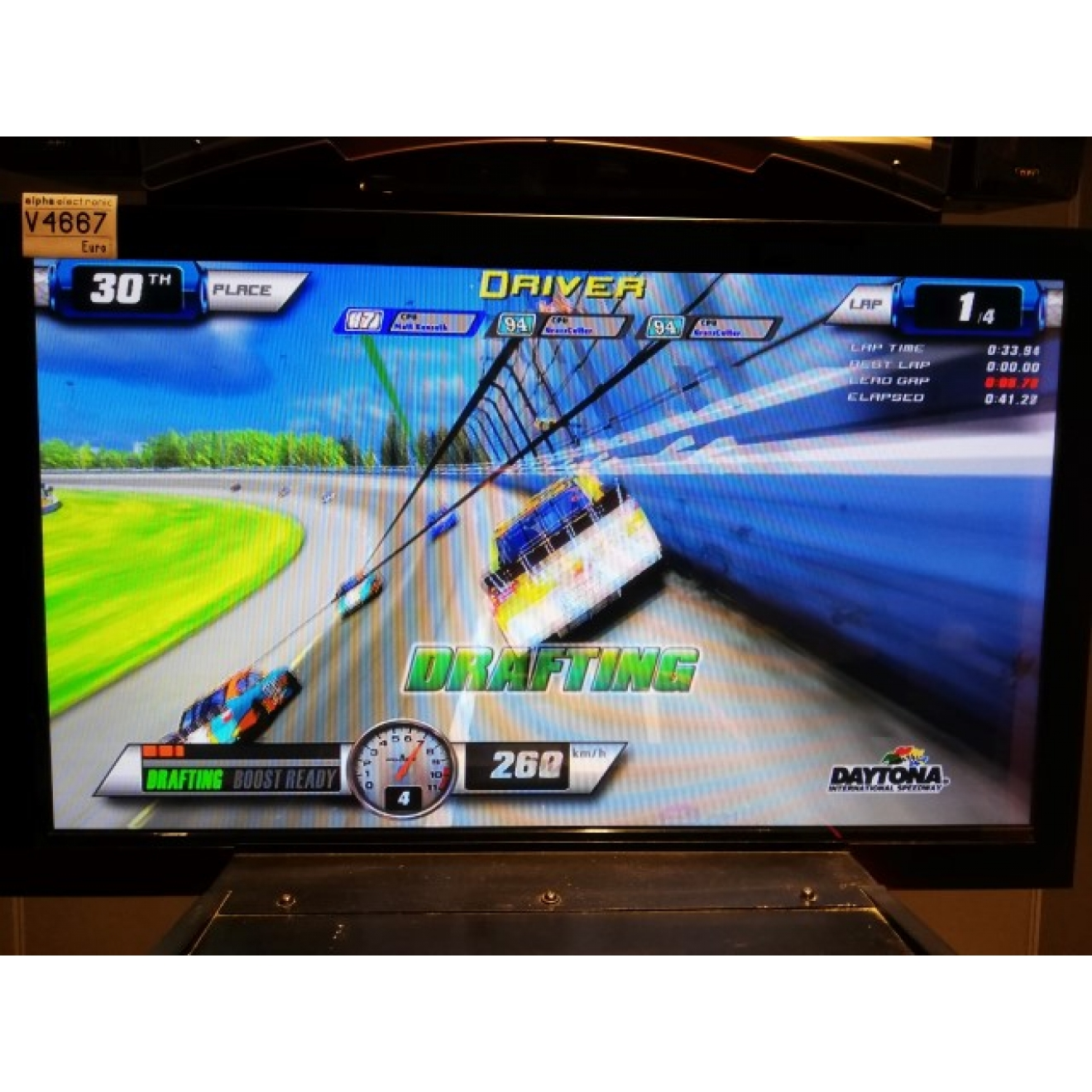 "NASCAR Team Racing 42"" DELUXE, Global VR, Arcade Fahrsimulator, V4667"